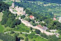 Burg Rötteln aus der Luft
